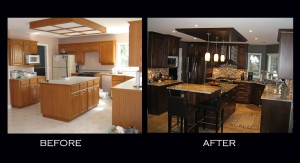 Kitchen before and after images