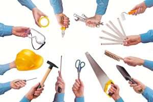 various tools used for home renovations